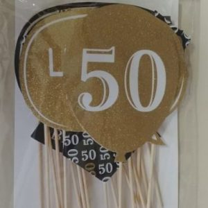 50th photo prop set