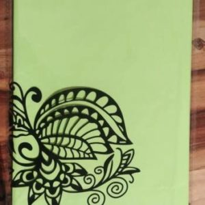 Lime green plastic table cover