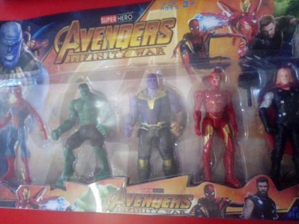 Avengers plastic figurine set 5 piece