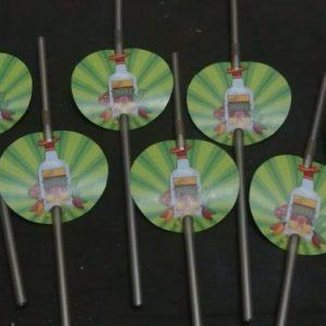 Mexican fiesta straws 8 per pack