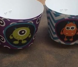 Friendly monsters cup cake wrappers