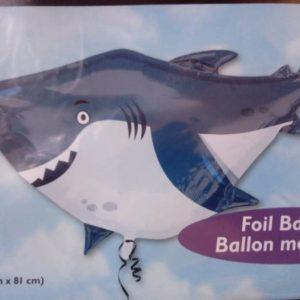 Shark shaped foil balloon super shape