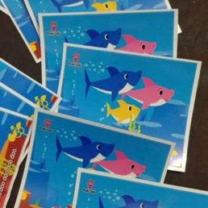 Baby shark stickers 10 per pack