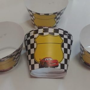Cars lightning Mc queen cup cake wrappers