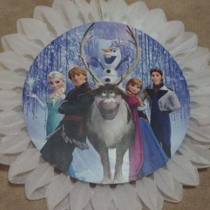 Frozen tissue fan decor white