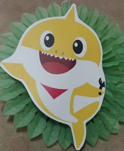 Baby shark tissue fan decor green