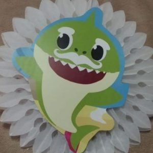 Baby shark tissue fan white