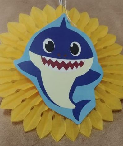 Baby shark tissue fan decor yellow