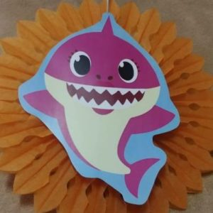 Baby shark tissue fan decor orange