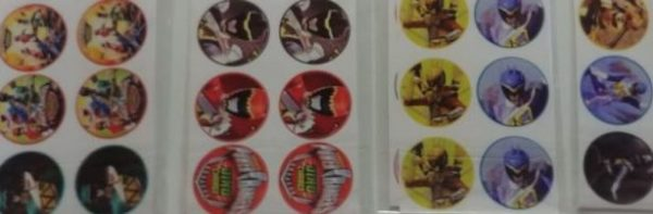 Power ranger stickers small