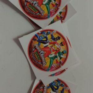Power rangers stickers round