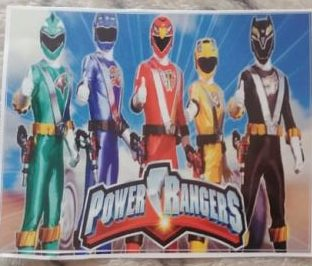 Power ranger stickers large