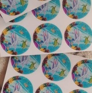 Under the sea dolphin stickers small