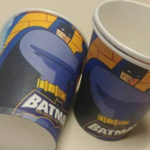 Batman paper cups