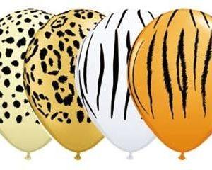 Wild animals animal skin print latex balloons