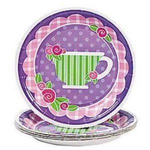 8 tea cup tea party paper dessert plates 480x