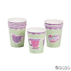 8 tea party paper cups 70 7975