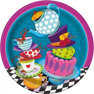 Mad Hatter Tea Party Lunch Paper Plates 002a