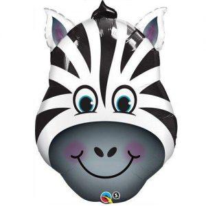 balloons 32 inch zany zebra foil balloon 1